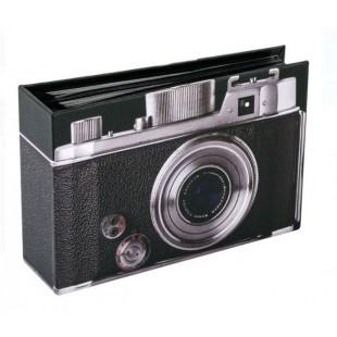 Album foto, negru, camera foto (19x12cm)