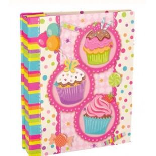 Album foto, roz, cup cakes (14x17cm)