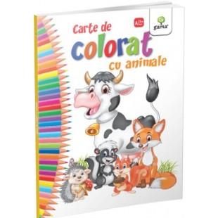 Carte de colorat cu animale - Carte de colorat cu activitati (3-6 ani)