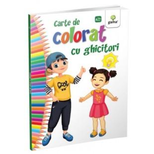 Carte de colorat cu ghicitori - Carte de colorat cu activitati (3-6 ani)