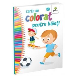 Carte de colorat pentru baieti - Carte de colorat cu activitati (3-6 ani)