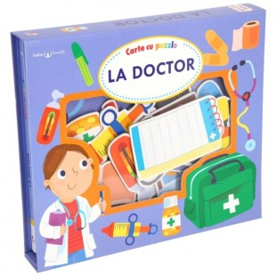 Bebe invata - La doctor - Carte cu puzzle