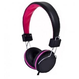 Casti audio reglabile, negru-roz, i-JMB