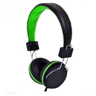 Casti audio reglabile, negru-verde - i-JMB