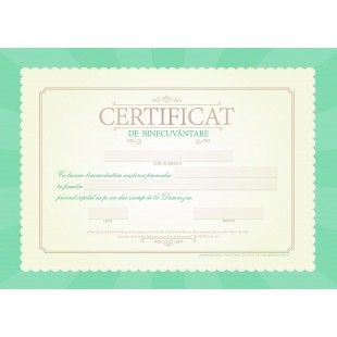 Certificat de Binecuvantare - Varianta 1