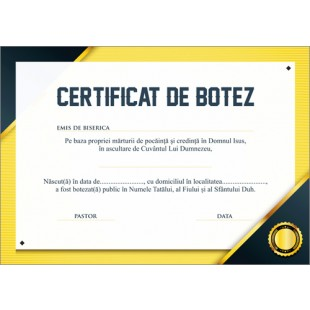 Certificat de Botez - model 10