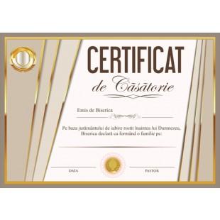Certificat de Casatorie - model 1