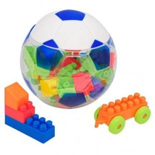 Minge de fotbal - Cuburi de construit din plastic , multicolore, 37 de piese