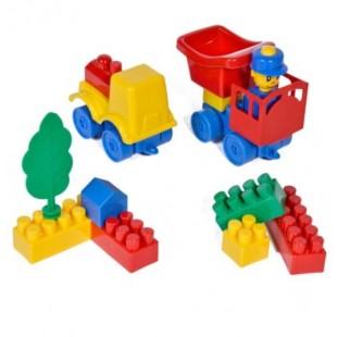 Cuburi de construit din plastic , multicolore, 40 de piese