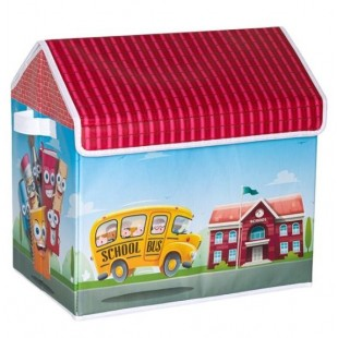 Cutie depozitare - Scoala si autobuzul scolii (38x25x38cm)