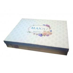 Cutie depozitare, alb-bordo (40x30x20cm)