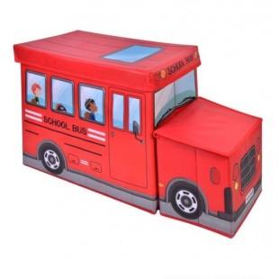 Cutie depozitare, rosu - School Bus (55x26x31cm)