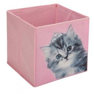 Cutie depozitare, roz - Pisica (25x25x25cm)