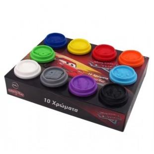 Plastilina, 10 culori - Cars - Activitati pentru copii (3+)