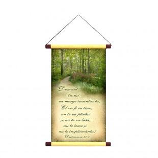 Papirus A4 vintage - Domnul insusi va merge (Deut.31:8)