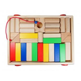 Cuburi lego din lemn (36 x 27cm)