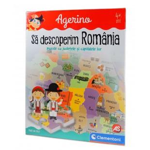 Joc pentru copii - Sa descoperim Romania - Puzzle cu judetele si capitalele lor