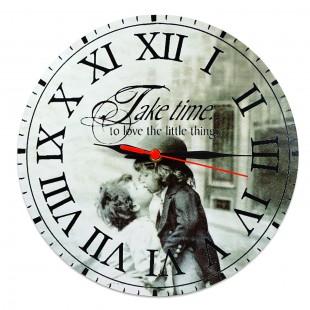 Ceas perete  - Take time to love