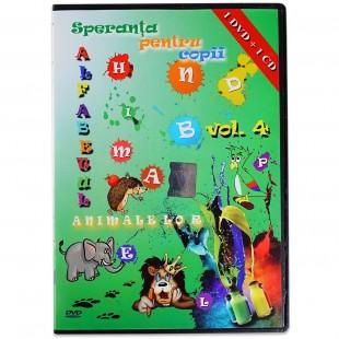 Speranta pentru copii- Alfabetul animalelor, vol.4 , DVD, CD