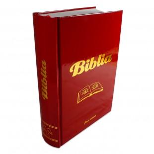 Biblia Catolică, marime mare, coperta cartonata, rosie - editie completa