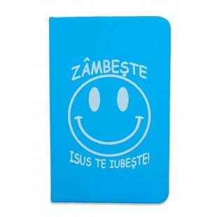Carnetel A6 - Zâmbește! Isus te iubește!(albastru)