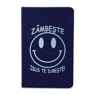 Carnetel A5 - Zâmbește! Isus te iubește! (bleumarin)