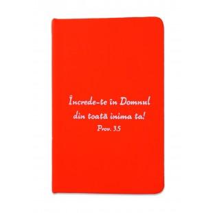 Carnetel A5 - Încrede-te în Domnul (roșu)