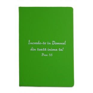 Carnetel A5 - Încrede-te în Domnul (verde deschis)