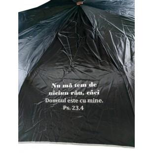 Umbrela adulti pliabila - Nu mă tem de niciun rău (negru)