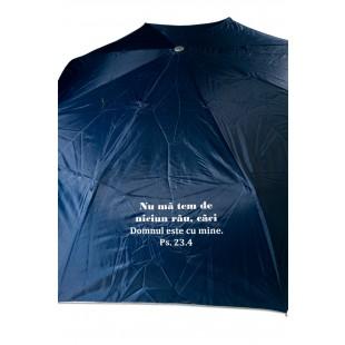 Umbrela adulti pliabila - Nu mă tem de niciun rău (bleumarin)