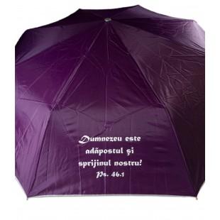 Umbrela adulti pliabila - Dumnezeu este adăpostul (mov)