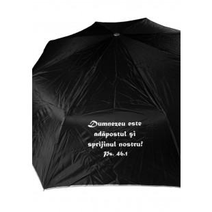Umbrela adulti pliabila - Dumnezeu este adăpostul (negru)