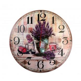 Ceas de perete rotund - Lavander ( 30x30cm)
