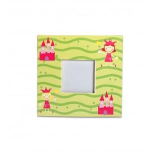 Rama foto copii patrata verde (10x10 cm)