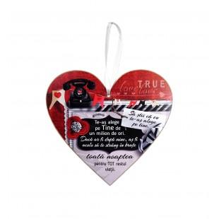 Tablou motivational   ceramica inima (20x19cm) - Te-as alege pe tine