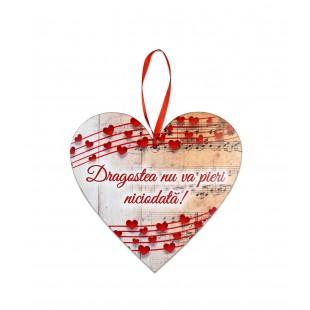 Tablou motivational  inima  (20x19cm) -  Dragostea