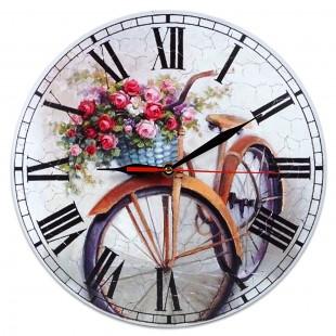 Ceas perete  - Bicicleta (28 x 28 cm)