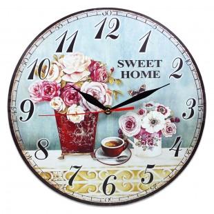Ceas rotund perete Sweet Home - 28 x 28 cm