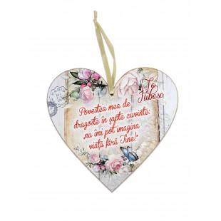 Tablou motivational  inima  (20x19cm) -   Povestea mea