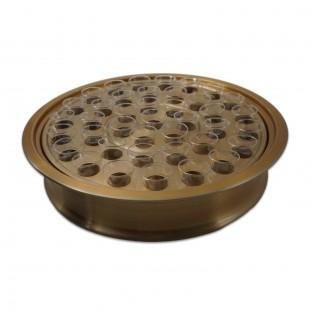 Tavă Impartasanie pentru 40 de pahare - auriu mat