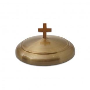 Capac inox Impartasanie pentru farfuria cu pâine - auriu mat