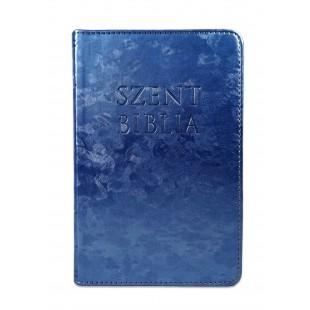 Szent Biblia - Mini Biblia, Metál Kék, Károli Gáspár Forditása (Biblia mica in lb. maghiara)
