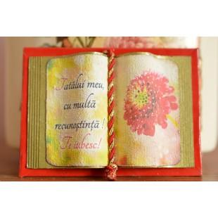 Carte decorativa magnetica - Tatalui meu... (5x7 cm)