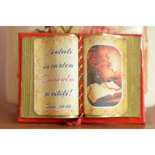 Carte decorativa magnetica - Cautati in cartea Domnului si cititi! (5x7 cm)