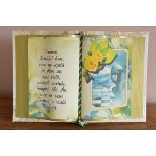 Carte decorativa - Sunteti dascalul bun... (14x21 cm)