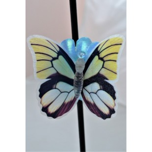 Fluture decorativ 3D LED- multicolor