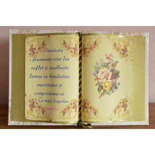 Carte decorativa - Adevarata frumusete vine din suflet... (14x21 cm)