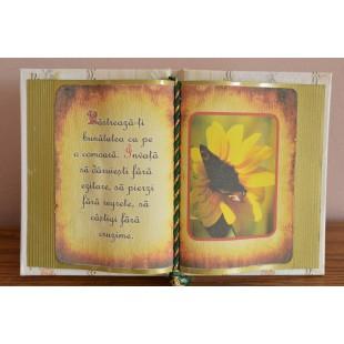 Carte decorativa - Pastreaza-ti bunatatea... (14x21 cm)