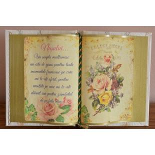 Carte decorativa - Nasului...Un simplu multumesc... (14x21 cm)