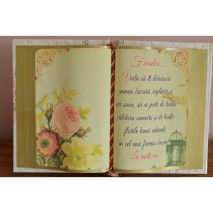 Carte decorativa - Finului... Viata sa iti daruiasca... (14x21 cm)